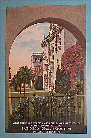 West Entrance, Foreign Arts Building Postcard (Image1)