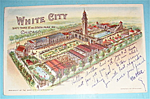 Sixty-third & South Park, White City, Chicago Postcard