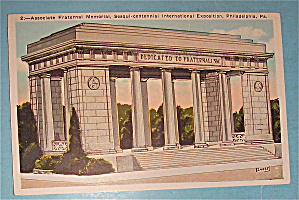 Associate Fraternal Memorial Postcard (Image1)