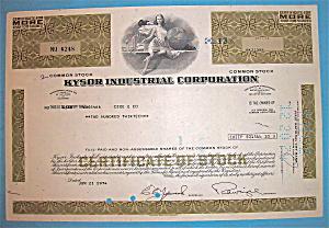 1974 Kysor Industrial Corporation Stock Certificate (Image1)
