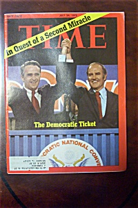 Time Magazine - July 24, 1972 - The Democratic Ticket