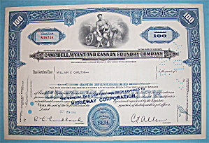 1956 Campbell, Wyant & Cannon Foundry Co. Stock (Image1)
