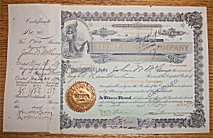1898 Trust Mining Company Stock Certificate (Image1)