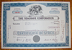 1971 Seagrave Corporation Stock Certificate (Image1)