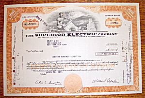 1974 Superior Electric Company Stock Certificate (Image1)