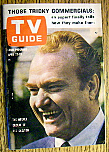 Tv Guide-april 20-26, 1963-red Skelton