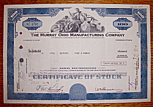 the murray ohio manufacturing company Murray the murray ohio manufacturing company was founded by j w murray in 1910 and operated out of detroit, mi until 1919 when a suitable site was found in cleveland, ohio.