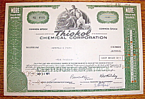 1971 Thiokol Chemical Corporation Stock Certificate (Image1)