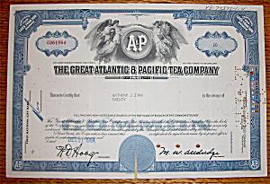 1964 Great Atlantic & Pacific Tea Company Stock (Image1)