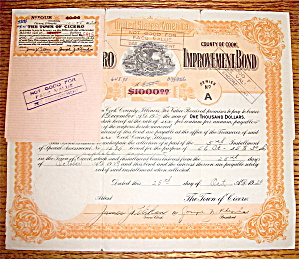 1929 Town Of Cicero $1000 Improvement Bond (Image1)