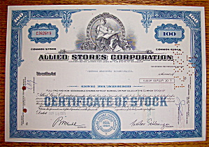 1971 Allied Stores Corporation Stock Certificate (Image1)