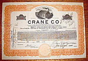 1931 Crane Company Stock Certificate (Image1)