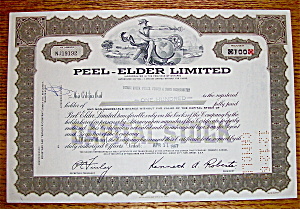 1967 Peel Elder Limited Stock Certificate (Image1)