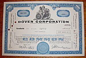 1971 Dover Corporation Stock Certificate (Image1)