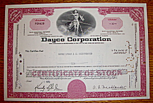 1970 Dayco Corporation Stock Certificate (Image1)