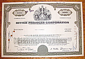 1967 Ritter Pfaudler Corporation Stock Certificate (Image1)