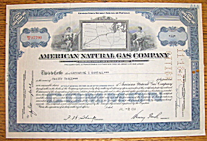 1953 American Natural Gas Company Stock Certificate (Image1)
