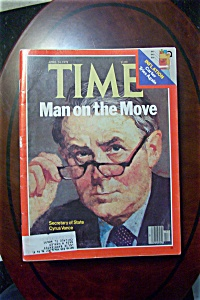 Time Magazine -april 24, 1978- Sec Of State Cyrus Vance