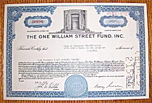 1962 Lehman Brothers One William Street Fund Stock (Image1)
