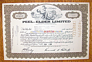 1969 Peel-Elder Limited Stock Certificate (Image1)