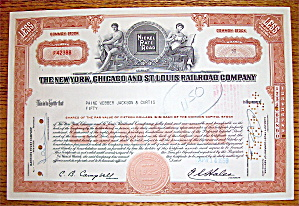1959 New York, Chicago & St. Louis Railroad Co Stock (Image1)