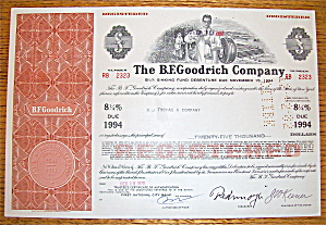 1970 B. F. Goodrich Company Stock Certificate (Image1)