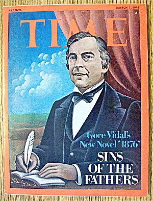 Time Magazine March 1, 1976 Gore Vidal's New Novel