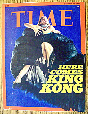 Time Magazine October 25, 1976 Here Comes King Kong