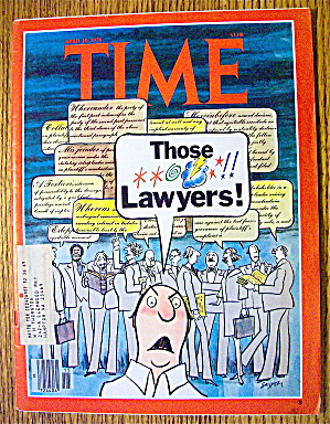 Time Magazine April 10, 1978 Those Lawyers