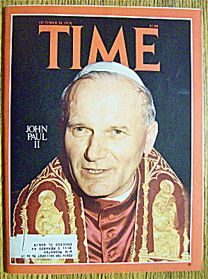 Time Magazine October 30, 1978 John Paul Ii