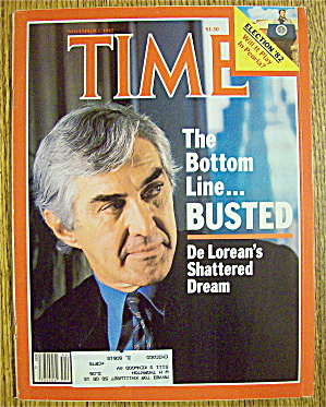 Time Magazine-November 1, 1982-De Lorean's Dream (Image1)