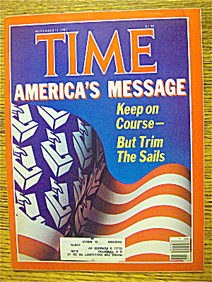 Time Magazine-november 15, 1982-america's Message