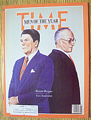 Time Magazine-january 2, 1984-reagan & Andropov