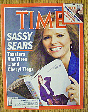 Time Magazine-august 20, 1984-cheryl Tiegs