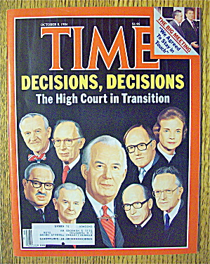 Time Magazine-october 8, 1984-decisions, Decisions