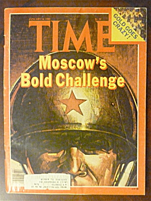 Time Magazine-january 14, 1980-moscow Bold Challenge