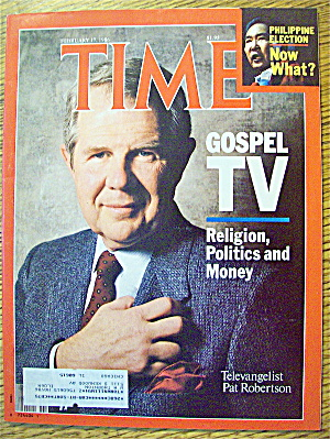 Time Magazine-february 17, 1986-pat Robertson