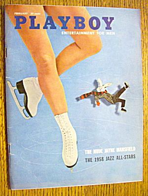 Playboy Magazine-February 1958-Jayne Mansfield (Nude) (Image1)