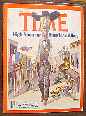 Time Magazine-april 28, 1980-high Noon For Allies