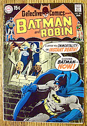 Batman And Robin Comic #395 January 1970 Instant Death