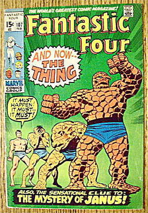 Fantastic Four Comic #107 February 1971 Janus Mystery