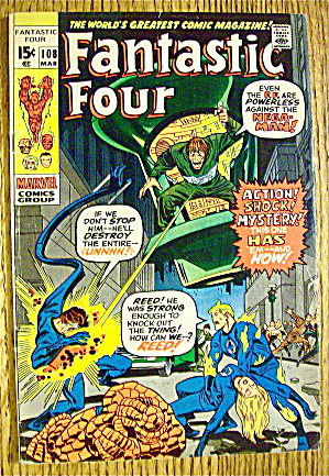 Fantastic Four Comic #108 March 1971 Mega-Man (Image1)