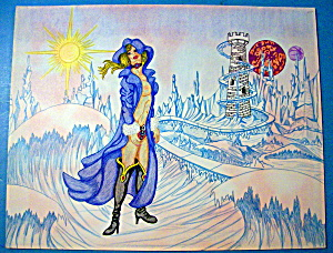 The Ice Queen - Original Nude Fantasy Drawing