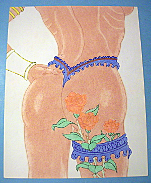 Rose Buds - Original Nude Fantasy Drawing