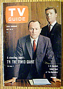 Tv Guide-may 18-24, 1963-e. G. Marshall & Robert Reed