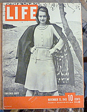 Life Magazine-November 15, 1943-Fur Lined Coats (Image1)