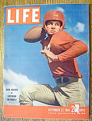 Life Magazine-september 27,1948-doak Walker