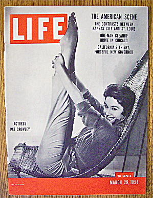 Life Magazine-march 29, 1954-pat Crowley