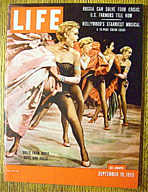 Life Magazine-september 19, 1955-guys And Dolls
