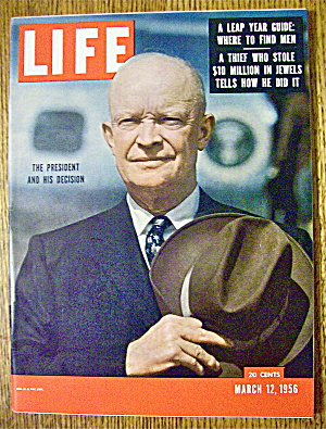Life Magazine-March 12, 1956-The President & Decision (Image1)